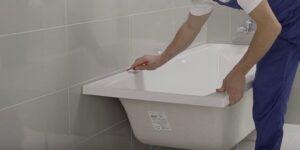 Как установить ванну
