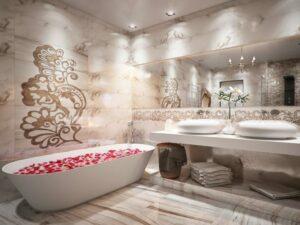 Как установить панели из прессованного металла в ванных и душевых комнатах